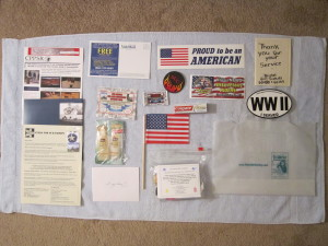 Goody-bag contents for WWII veterans